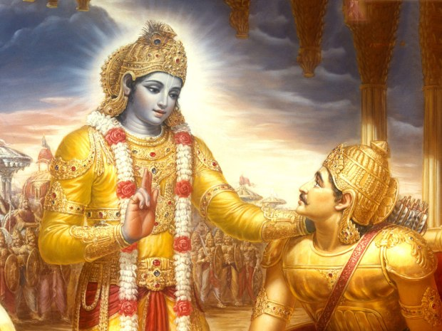 Lord Krishna instructing Arjuna